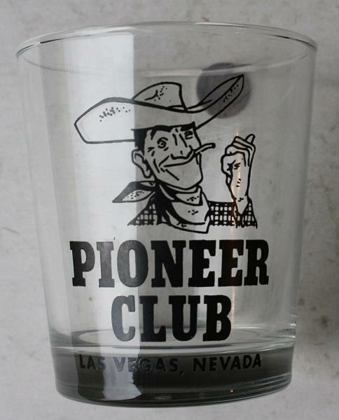 1960-70s Era Las Vegas,Nevada Pioneer Club Vegas Vic HEAVY clear glass-VINTAGE!*
