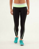 "lululemon Pace Tight VEUC - Size 8 - Black & ""Faded Zap"""