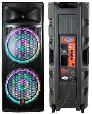 AKTIVER DJ PA LAUTSPRECHER STUDIO MONITOR BOX 150W RMS SOUND 20CM B-WARE