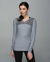 NWT Lululemon Just Breath Long Sleeve Top Size 6 Gray