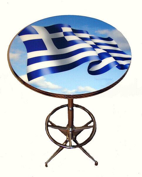 Greece Greek Athens Greek Flag Pub Table