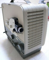 8 mm movie projector, camera, an and  Screen