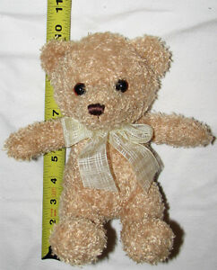 Plush Toy Beige Teddy Bear in Cream Bow London Ontario image 1