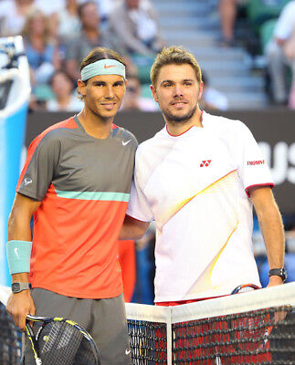 Rafael Nadal And Stan Wawrinka Unsigned Photo   K6119   New Image