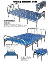Folding platform bed with 10 legs for premium support;  It folds