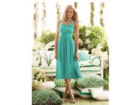 2 Dessy Pantone Turquoise Tea Length Bridesmaid/Formal Dresses