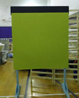 2 Sided Peg Board Vendor Display with Chalkpainted Top