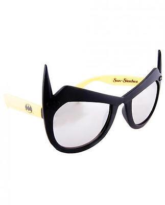 Batman Mirror Lenses Sunglasses Eye Glasses Mask Halloween DC Comics SunStaches](Mirror Halloween Mask)