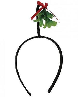 Christmas Mistletoe Hat Headband Holiday Funny Gag Gift Ugly Party Men Women