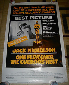 1975 ONE FLEW OVER CUCKOO'S NEST JACK NICHOLSON VHS BETA POSTER