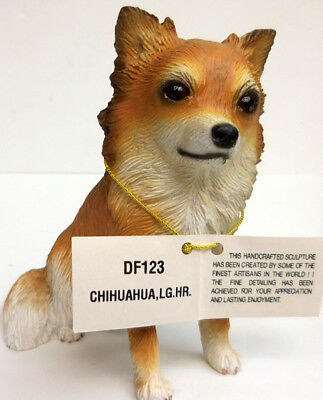 CHIHUAHUA, TAN, LONGHAIRED, SITTING, CONVERSATION CONCEPTS, ITEM DF123