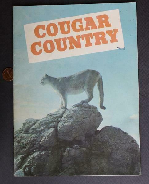 1970 Cougar Country Western USA pictorial booklet-Big Cats-Elk-Moose-Sheep-Owls!
