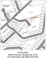 Lot For Sale on Ranch Avenue in the heart of Quispamsis