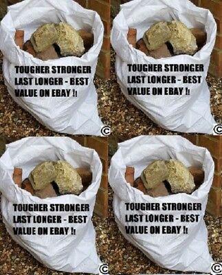 20 x Tough Woven Polypropylene Builder Rubble Sacks Bags. ** ULTRA STRONG **