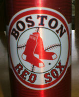Boston Red Sox crested collectible beer bottle -Budweiser issue