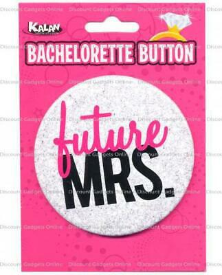 Bachelorette Button Future Mrs. Party Costume Lingerie Novelty Clothing Fun - Bachelorette Costume