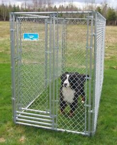 Dog Kennel - Dog Run(Galvanized 4ft x 8ft x 6ft high with door)