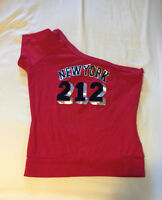 New York Red fitted tank