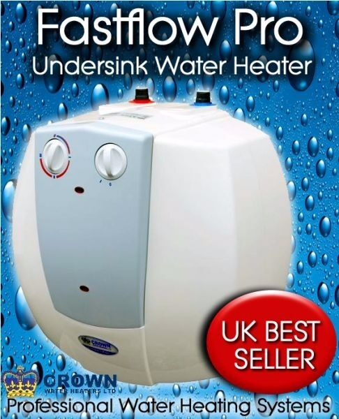 15 LITRE CROWN UNDER SINK COMPACT PLUS UNVENTED WATER HEATER