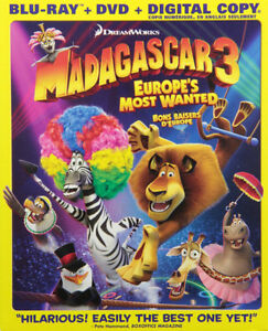Madagascar 3 Blu Ray Combo Set NEW.