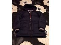 Boys navy padded jacket. Age 8-9. Excellent condition.
