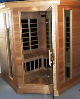 Carbon Infrared Deluxe Corner Sauna - 8 person - paid over $6000