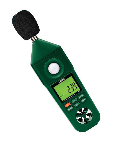 EN300 Extech Hygro-Thermo-Anemometer-Light-Sound Meter