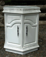 Vintage End Table - Painted White