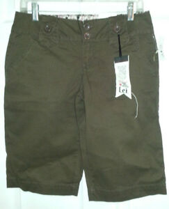 Dark Brown Bermuda Shorts - Size 7 - NEW