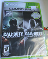 NEW SEALED - Xbox 360 Call of Duty Black Ops & Black Ops 2 Combo