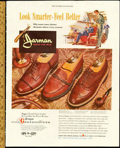 Large (13 ½ x 10 ½ ) 1949 full-page color Jarman Shoes Ad