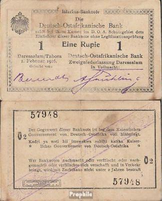 Deutsch-Ostafrika Rosenbg: 928i Serie: O2 gebraucht (III) 1916 1 Rupie