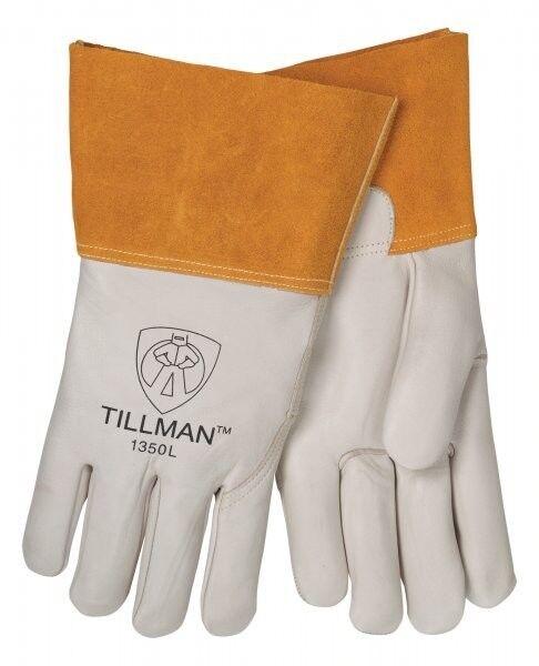 Tillman 1350 Pearl Top Grain Cowhide MIG Welders Gloves Size SM-XL Business & Industrial