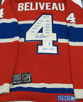 Jean Beliveau Montreal Canadiens Signed Wool Jersey In Stock