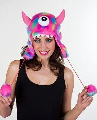 FM - Kostüm Zubehör Monster Plüschmütze Karneval Fasching Party
