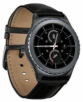 Samsung Gear S2 Classic (Verizon) Android Smartwatch w/ SMALL Leather Band Black