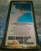 4 different Ski-doo  ads - 1 from 1969 & 3 from 1972