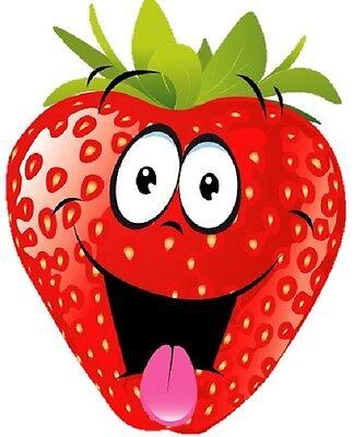 30 Custom Cartoon Strawberry Personalized Address Labels