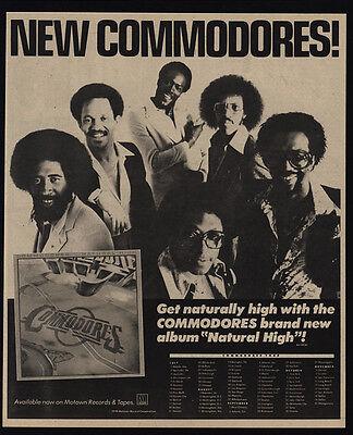 1978 COMMODORES - NATURAL HIGH Album Release - LIONEL RICHIE - VINTAGE AD