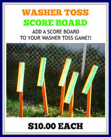 WASHER TOSS GAMES AND SCORE BOARDS FOR SALE