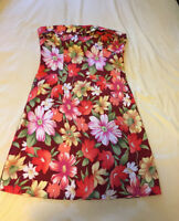 Tropical Fitted Dress, Size Small/Medium from 5-7-9