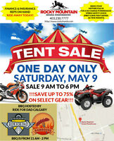ROCKY HONDA TENT SALE - SATURDAY MAY 9 - SUPER SAVINGS