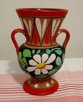 Vase à anses Italy fleur blanche