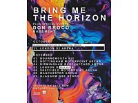 2 x Bring Me The Horizon tickets for 31st October @ O2 Arena London