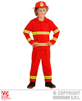 Childrens Firefighter Fancy Dress Costume Kids Childs Fireman Outfit 2-5 Yrs