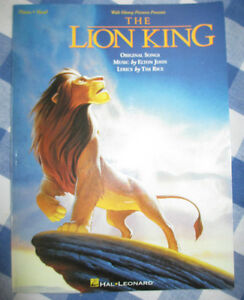 The Lion King sheet music book (piano and vocal)
