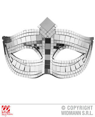 Silver Cat Eye Disco Ball Eyemask Halloween Masquerade Ball Fancy Dress Accessor