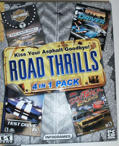 PC GAMES: Road Thrills (4 in 1 Pack). NEW.