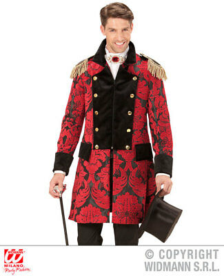 Mens Male Red Prince Parade Coat Fancy Dress Costume Fairy Tale Outfit Adult