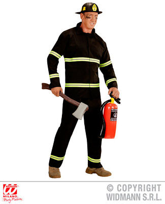 Adult Fireman Fancy Dress Costume Mens Males Fire Fighter 999 Services Outfit
